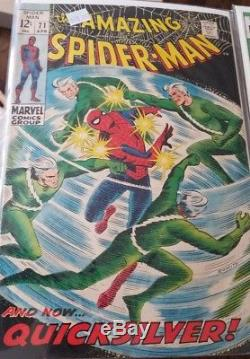 1969 Marvel The Amazing Spider-Man And Now Quicksilver #71 Lot of 3