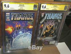 2 Count lot CGC 9.6 SS Cates Thanos # 13. 2nd & 3rd print 1st Cosmic Ghost rider