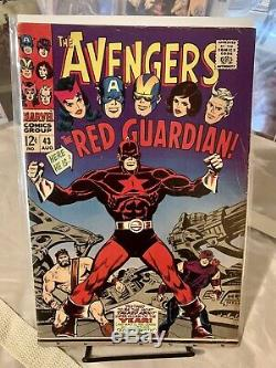 AVENGERS #43 1ST APP OF RED GUARDIAN VG+ MARVEL 1967 Lots Of Pics! Free Shipping