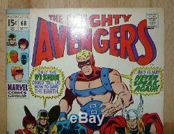 AVENGERS 68 Silver Age 1969 High Grade +Great Condition+ Lots Of Pics & Scans