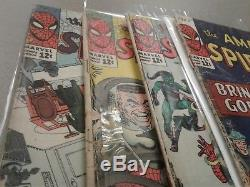 Amazing Spider-Man #24 #25 #26 #27 Reader Copy Lot 1965 4 comics in sequence
