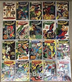 Amazing Spider-Man Huge Comic Book Lot, Silver Age & Bronze Age Over 150 Issues