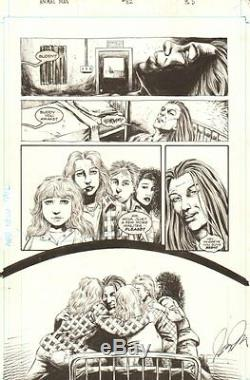 Animal Man #82 p. 5 Lots of Characters 1995 Signed art by Fred Harper
