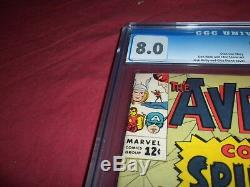 Avengers #11 marvel 1964 silver age CGC 8.0 comic! SPIDER-MAN! Lots of keys up