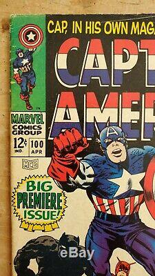 Captain America #100 VG Marvel Silver Age Key Lots of photos! Free Shipping