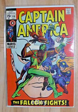Captain America 118 SIlver Age High Grade 1969 +2nd Falcon App+ Lots Of Pics
