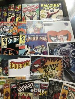 Comics lot. Over 100 Assorted. Mostly Spider-Man. Lots Of Collectibles And Runs