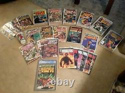 Complete Master Of Kung Fu Collection. CGC 8.0 white pages. Lots of extras