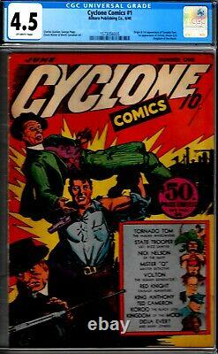 Cyclone #1- Cgc 4.5- 1940-early Wwii Comic- Lots Of 1st Appearances