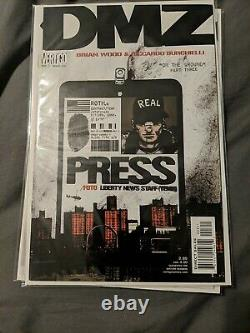 DMZ #1, 3, &4 First Print! TV Show! Brian Wood! Lots of Pictures! Free Shipping