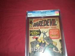 Daredevil #4 marvel 1964 silver age CGC 4.5 comic! Lots of Daredevil keys up
