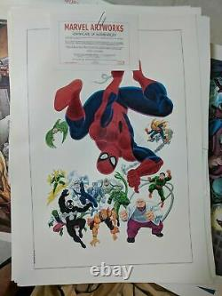 Dealer's Mini-lot Marvel canvas art (Giclee) lots 10 diff. Images with blank COAs