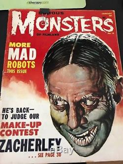 Famous monsters magazines lot of 6
