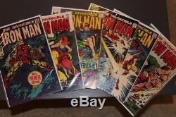 Iron Man #1 (May 1968, Marvel), lot 1-6 all 7s or above