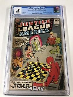 Justice League Of America 1 Cgc. 5 Ow Pages Lots Of Tape 1st Despero Dc Silver