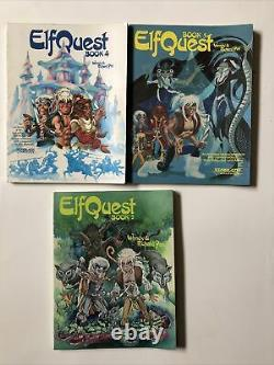 Lot Of 3 ELFQUEST Books 2 3 4 Lots Of Wear See Pictures Starblaze Graphics