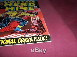 Luke Cage, Hero For Hire #1 marvel 1972 bronze age 4.0/vg comic! Lots of keys up