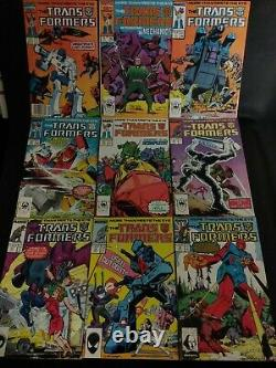 MARVEL TRANSFORMERS HUGE LOT of 53 comics from 1-60 LOTS OF PICS