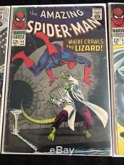 Marvel Comics Silver Age Amazing Spiderman #43, 44, 45 All Complete VG Comic LOT