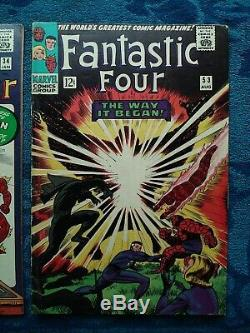 Marvel Comics Silver Age Fantastic Four Issue 34 53 Lots Of 2