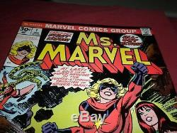Ms. Marvel #1 marvel 1977 bronze age 7.5/8.0 comic! Lots of keys up! See store