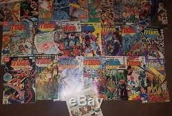 NEW TEEN TITANS #2-48 + Annuals 1 2 3 38 comic lot first appear DEATHSTROKE DC