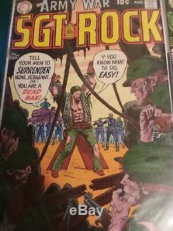 Our Army at War Sgt. Rock silver age comics collection Lots rare cencus
