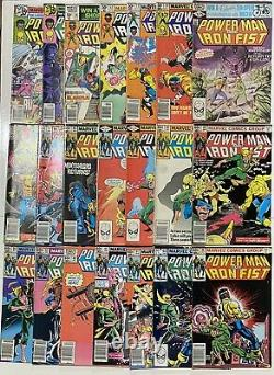 Power Man Iron First Newsstand Variant Lot of 45 Issues 55 to 124 Lots of pics