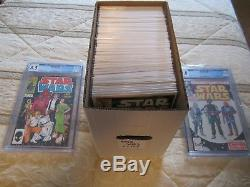 STAR WARS Comic Book Lot complete 1 107 By Marvel 1977 (2 CGC graded comics)