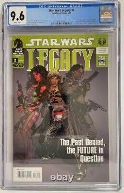 STAR WARS Legacy #2 CGC 9.6 WHITE PAGES! LOTS of 2nd appearances! 1st printing