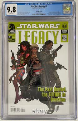 STAR WARS Legacy #2 CGC 9.8 WHITE PAGES! LOTS of 2nd appearances! 2nd printing