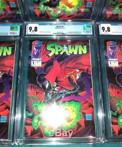 Spawn #1 CGC 9.8 White Pages 1st Appearance Investment Lot of 10 Copies