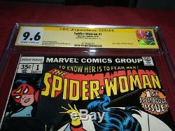 Spider-Woman #1 marvel 1978 CGC 9.6 SS comic! SIGNED STAN LEE! Lots of keys up