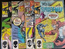 Spiderman (Web Of And Amazing) 80s Issue Lot (23 issues!) Lots Of Black Suit