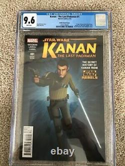 Star Wars Kanan 1 Rebels Variant In A 9.6 Cgc Lots Of First Appearances Sabine W