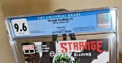 Strange Academy 1 CGC 9.6 Walmart Edition. White Pages Lots of First Appearances