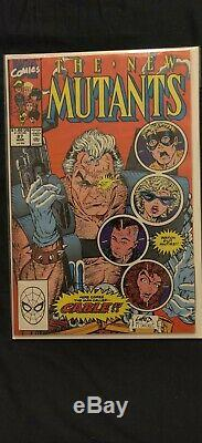 THE NEW MUTANTS 98 + 87 WITH LOTS 1ST apps+repeats VF NM, SOME SIGNED! READ