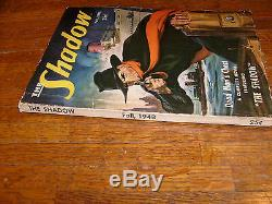 THE SHADOW FALL 1948 PULP, lots of over hang, VG