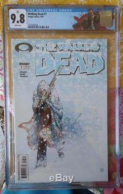 The Walking Dead #7 1st & 2nd print Both CGC 9.8 NM/MT Rick Labels! 1st Tyreese