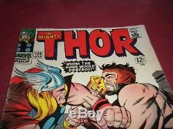 Thor #126 marvel 1966 silver age 4.5/5.0 comic! 1ST SOLO THOR! Lots of keys up