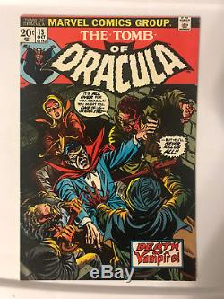 Tomb of Dracula Lot #3, 10, & 13 First & Origin of Blade Good to Very Fine