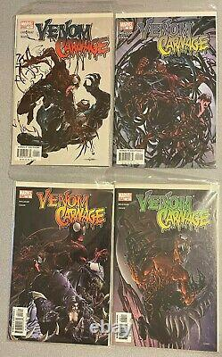 Venom vs Carnage 1 2 3 4 Full Set 1st APPEARANCE TOXIN High Grade IMMACULATE