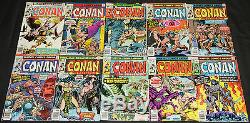 Vintage Marvel Bronze Age CONAN THE BARBARIAN 76pc Count Comic Lot FN/VF