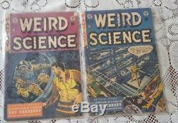 Weird Science (E. C.) lot of 16. Well worn n shows age
