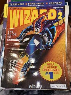 Wizard the guide to comics lots with overstreets Lot Of 9 With Posters