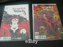 Wow! 19 SCARLET WITCH (2016) #1-11, with5 #1 VARIANTS! + Lots More Var's! (NM+)